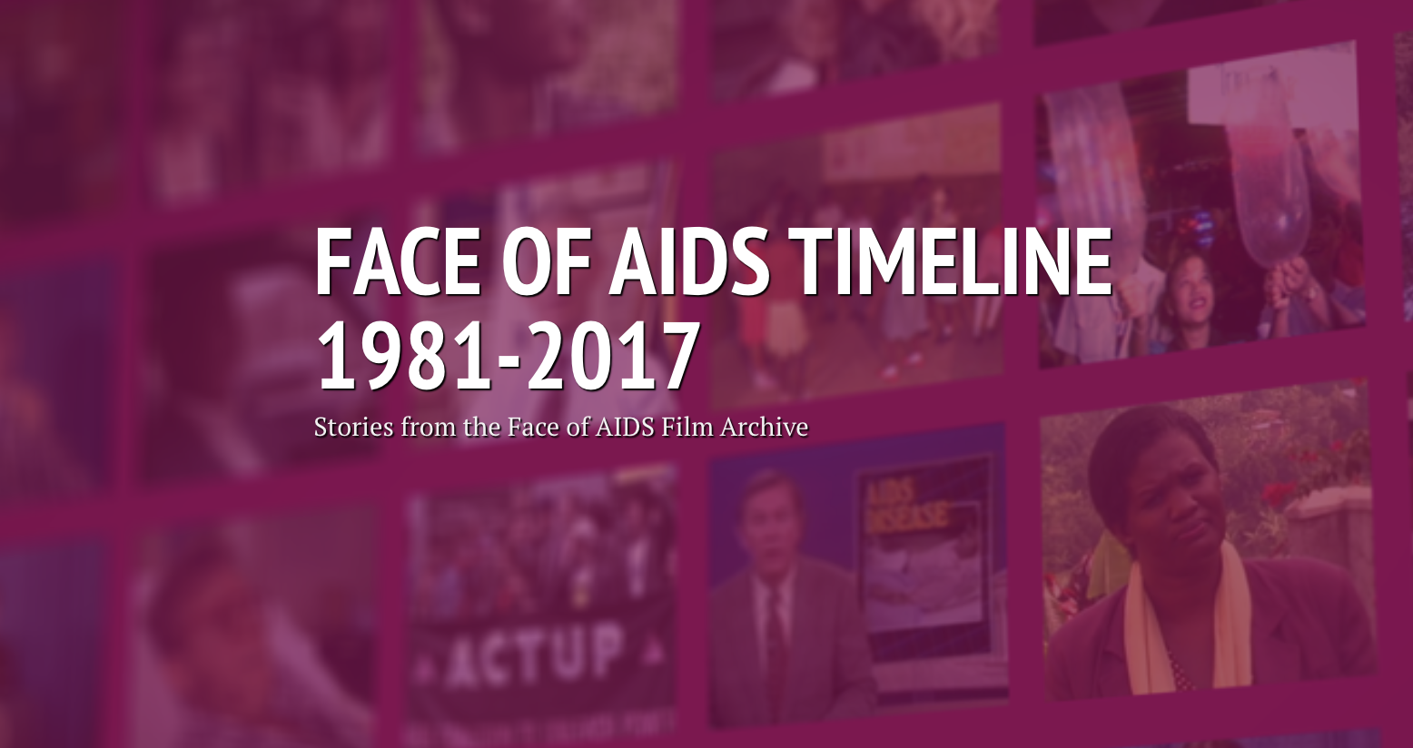 Face of AIDS - timeline